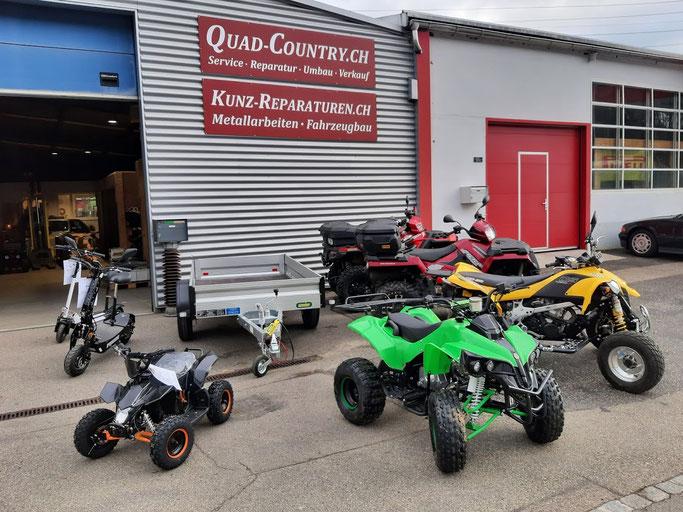 Reparaturen von Quad, ATV, Anhänger Fahrzeugbau