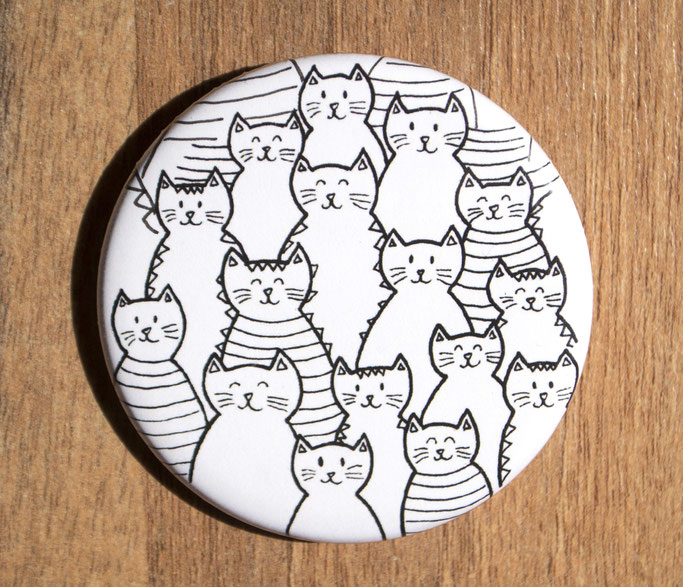 Cats and cats and cats pin
