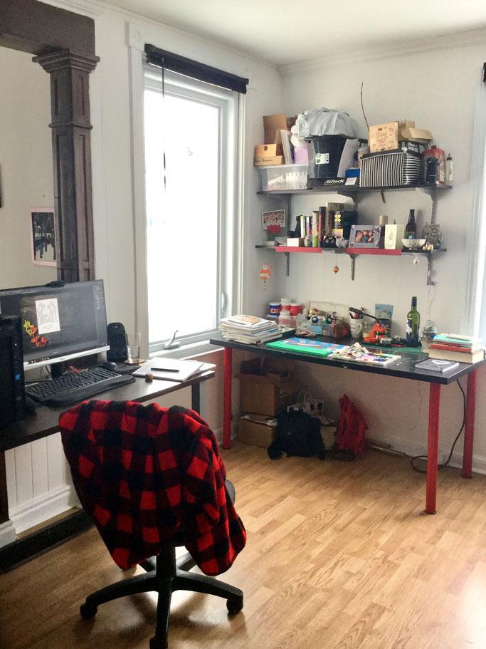 Caroline's workspace