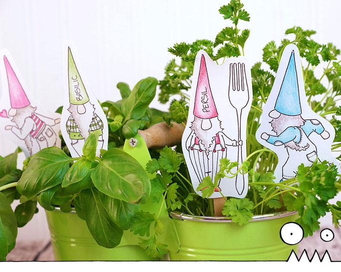 images à colorier, nains de jardin, les funky, dessins, coloriage