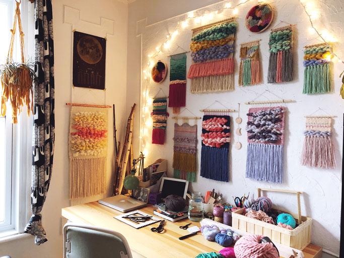 L'atelier de Jen, bien rangé