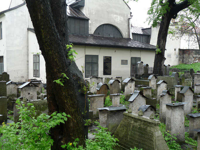 Oude begraafplaats Remuh-synagoge in de wijk Kazimierz