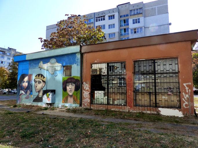 Steet Art in de wijk Hadzhi Dimitar