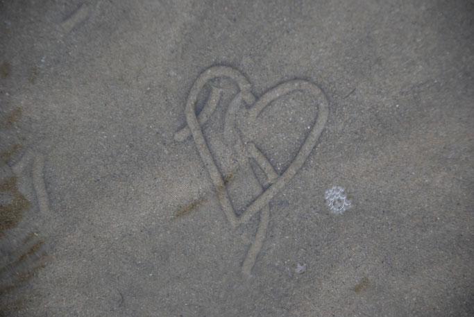 Herzchen im Watt...