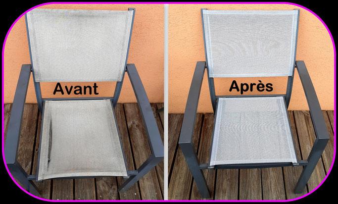 """Chaise de terrasse refaite a neuf """" Avant et Après """""""