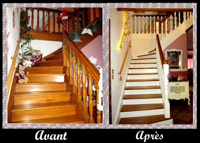 Escalier en bois  relooké