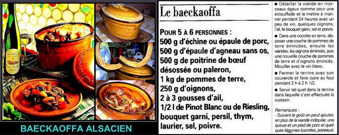 BAECKAOFFA Alsacien , un repas complet pour toute la famille