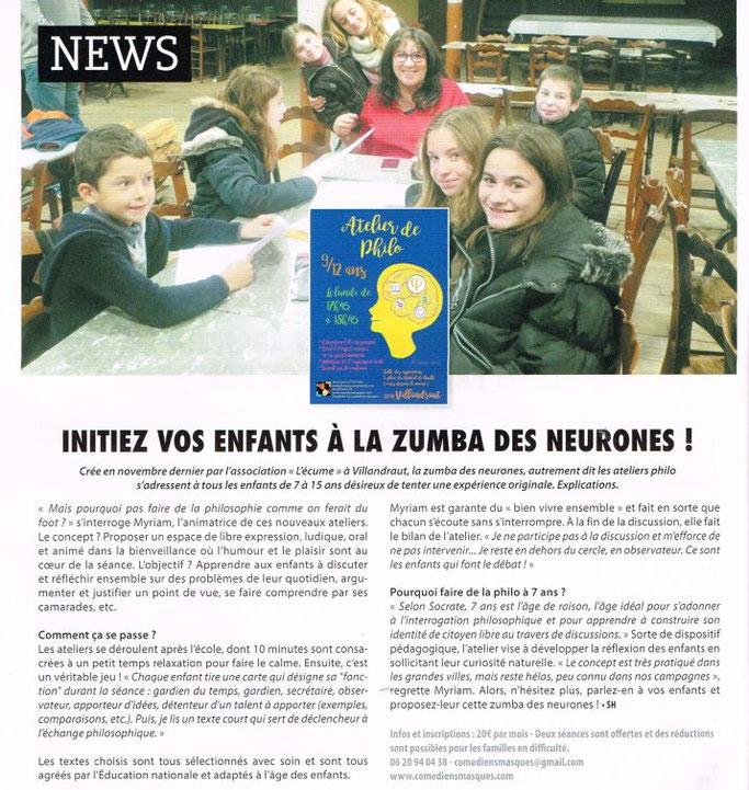 """Article paru en janvier 2017, dans le superbe magazine """"Le sud girondin"""" !"""