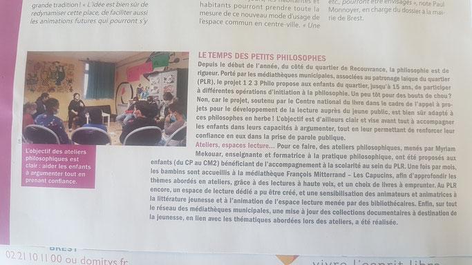 Article paru dans la revue Sillage de Brest en mai 2021