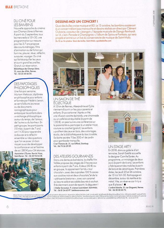Le magazine a répertorié 15 activités originales avec les enfants pratiquées en Bretagne et nous en faisons partie !