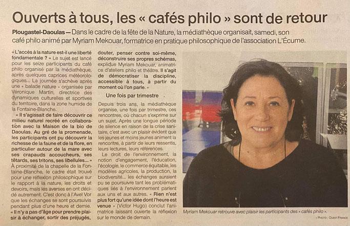 Merci à Catherine Penhoet de Ouest France pour ce beau relais !