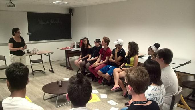 Atelier philo à l'X Sciences Camp de la Fondation Polytechnique à Palaiseau avec des lycéens (juillet 2018)