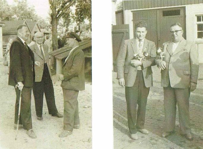 Züchtergespräche - Willy Kutzmann (li. Bild li.) und Günter Kutzmann (r. Bild li.)