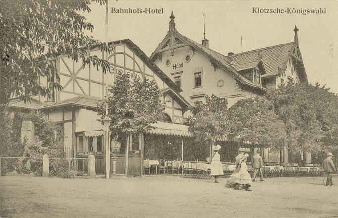 Das Vereinslokal - Bahnhofshotel Klotzsche um 1890
