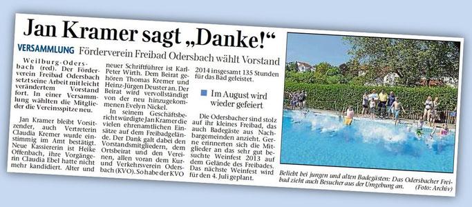 Weilburger Tageblatt vom 11.02.2015