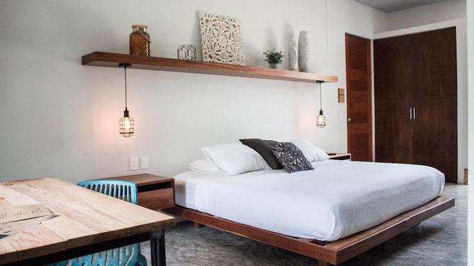 You will each have your own private double room