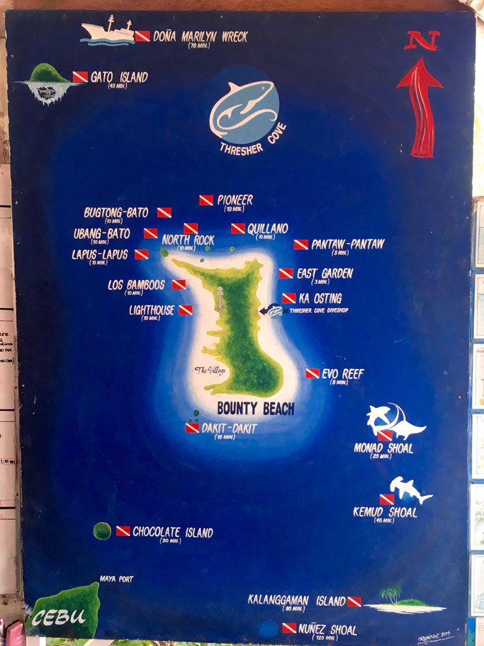 dive sites in Malapascua