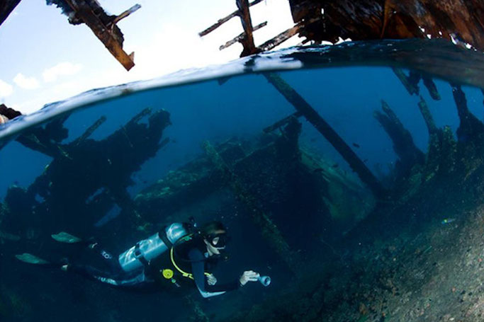 Wrecks in Maldives