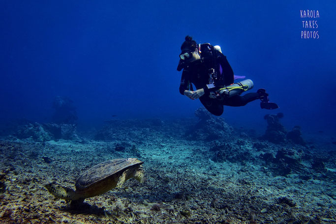 Technical diving Gili T