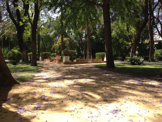 Englischer Garten in der Königlichen Festung, Sevilla