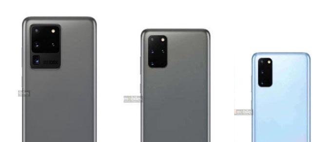 Samsung Galaxy s20 ultra, s20 plus, s20