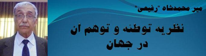 حقیقت، میر محمد شاه رفیعی: نظریه توطئه و توهم آن در جهان
