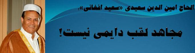 حقیقت ، الحاج امین الدین سعیدی «سعید افغانی»: مجاهد لقب دایمی نیست!
