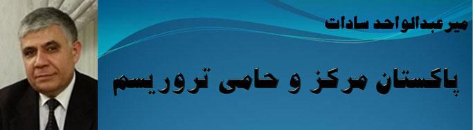 حقیقت، میر عبدالواحد سادات: پاکستان مرکز و حامی تروریسم