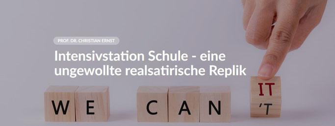 Deutschland ist überbürokratisiert und das zeigt sich auch im schulischen Bildungssystem, das nach Meinung von Prof. Dr. Christian Ernst dringend reformbedürftig ist.