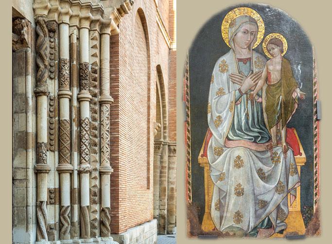Basilica di San Tommaso, portale principale e Ignoto abruzzese sec. XV, Madonna col Puer Dolorosus, 1440 circa, tempera su tavola
