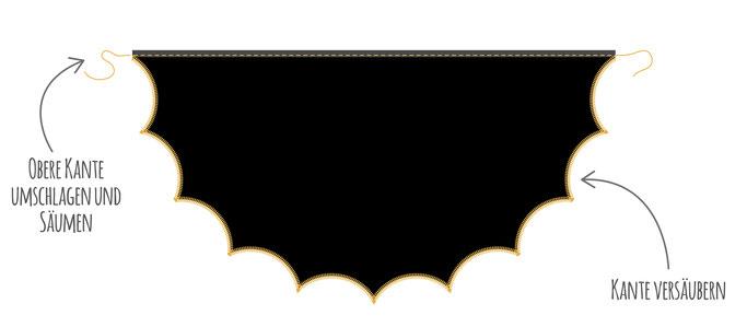 Fledermaus Batman Kostüm für Fasching nähen