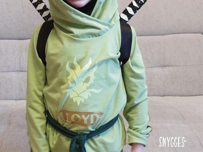 Ninjago Kostüm nähen Lloyd grüner Ninja
