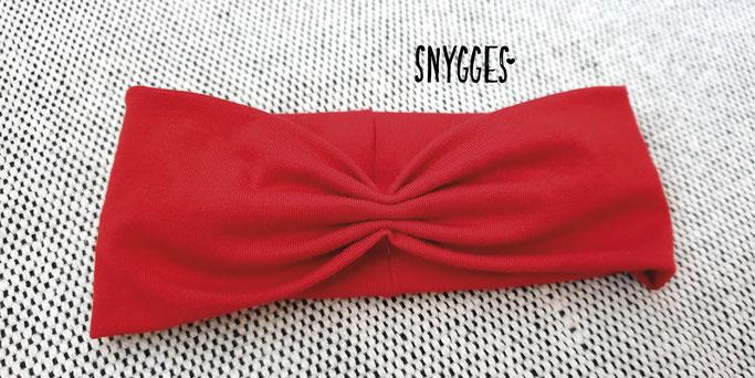 Snygges - gerafftes Stirnband Haarband Anleitung