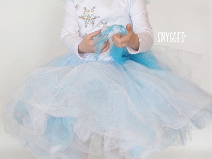 Eiskönigin Kostüm - Tüllrock nähen, Elsakleid, Fasching, Karneval, Frozen