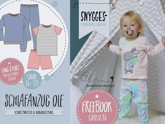 SNYGGES Schlafanzug Ole Schnittmuster und Anleitung Freebook