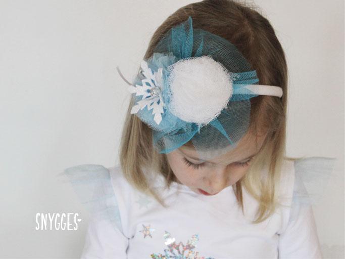 Eiskönigin Kostüm - Tüllrock nähen, Elsakleid, Fasching, Karneval, Frozen, Haarschmuck