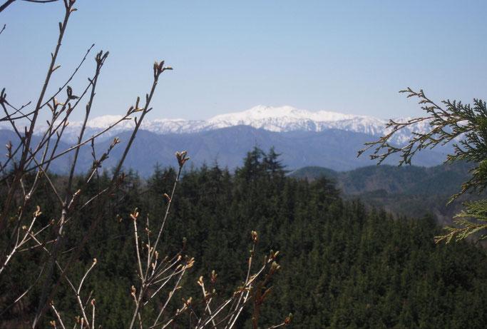 西に白山連峰