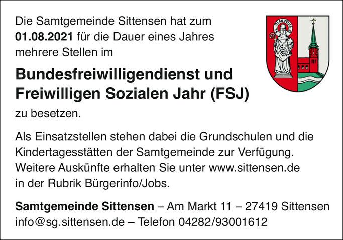 FSJ Sittensen, BUFDI in Sittensen.