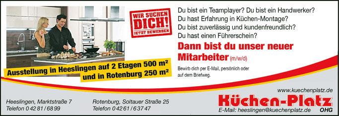 Stellenanzeige für Heeslingen und Rotenburg