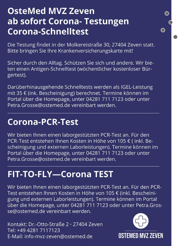 Corona Test in Zeven