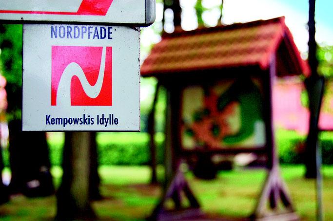 Kempowski Nordpfad Spazierweg / Wanderweg in Nartum
