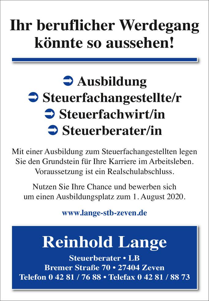 Ausbildung Steuerfachangestellter / Steuerfachangestellte Ausbildungsplatz in Zeven