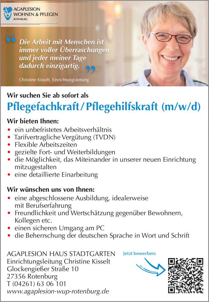Stellenmarkt Pflegeberufe in Rotenburg