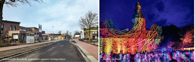 Zeven aktuell:  Baustellen, Neubauten, Veranstaltungsalender, Stadtpark 2021