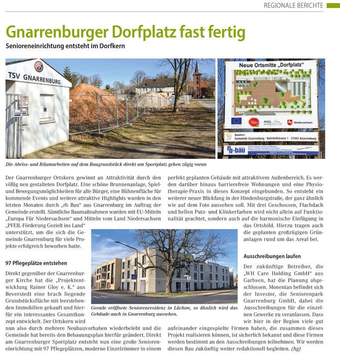 Gnarrenburg Dorferneuerung, mit Seniorenwohnanlage