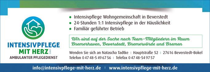 Stellenangebote  für Bremerhaven, Beverstedt, Bremervörde und Bremen.