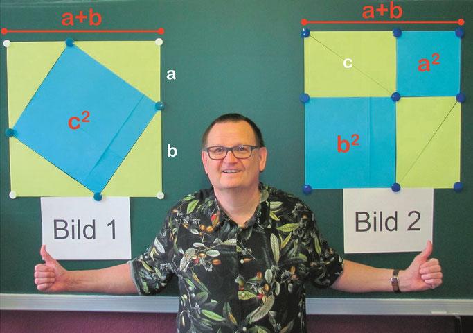 Beweis Satz des Pythagoras:  Mathe Nachhilfe in Zeven