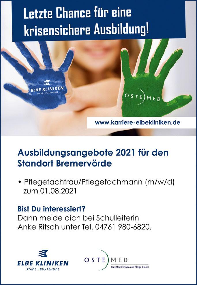 Ausbildungsplatz in Bremervörde. Ostemed und Elbe Kliniken