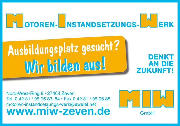 Ausbildungsplatz Zeven: Angebote des MIW Motoren Instandsetzungs Werk