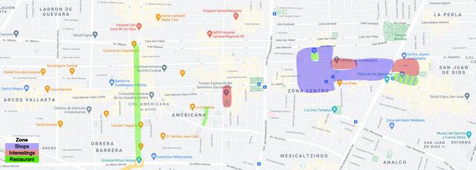 Guadalajara - Zones